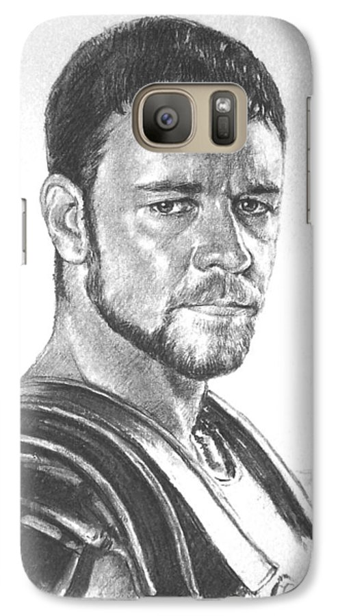 Portraits Galaxy S7 Case featuring the drawing Gladiator by Iliyan Bozhanov