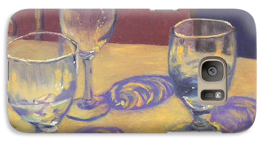 Glasses Galaxy S7 Case featuring the painting Glasslights by Sharon E Allen