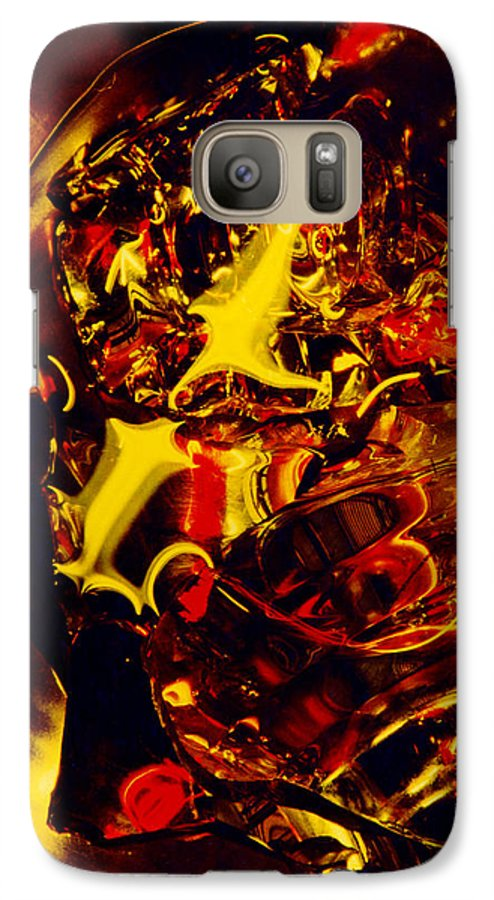 Abstract Galaxy S7 Case featuring the photograph Glassman by David Rivas