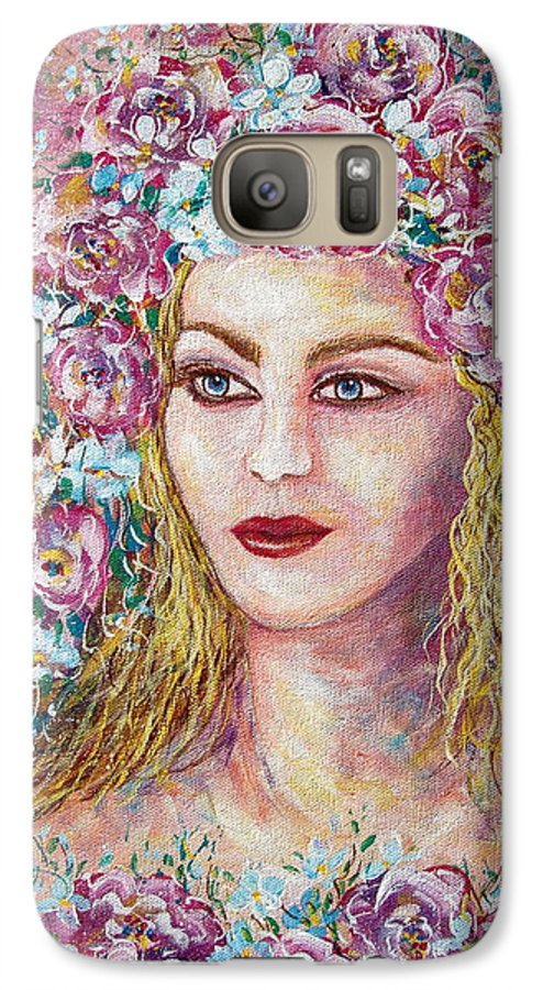 Goddess Of Good Fortune Galaxy S7 Case featuring the painting Goddess Of Good Fortune by Natalie Holland