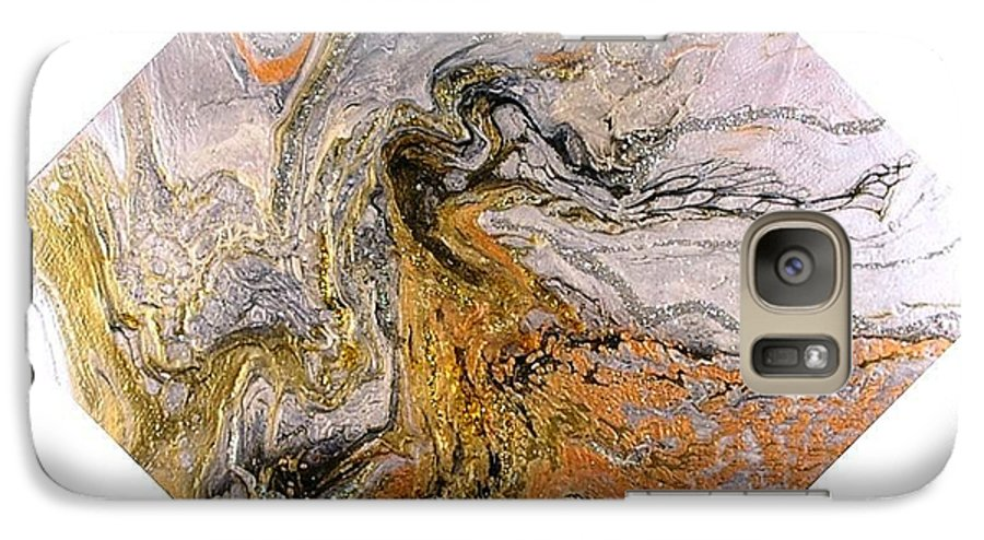 Abstract Galaxy S7 Case featuring the painting Goddess by Patrick Mock