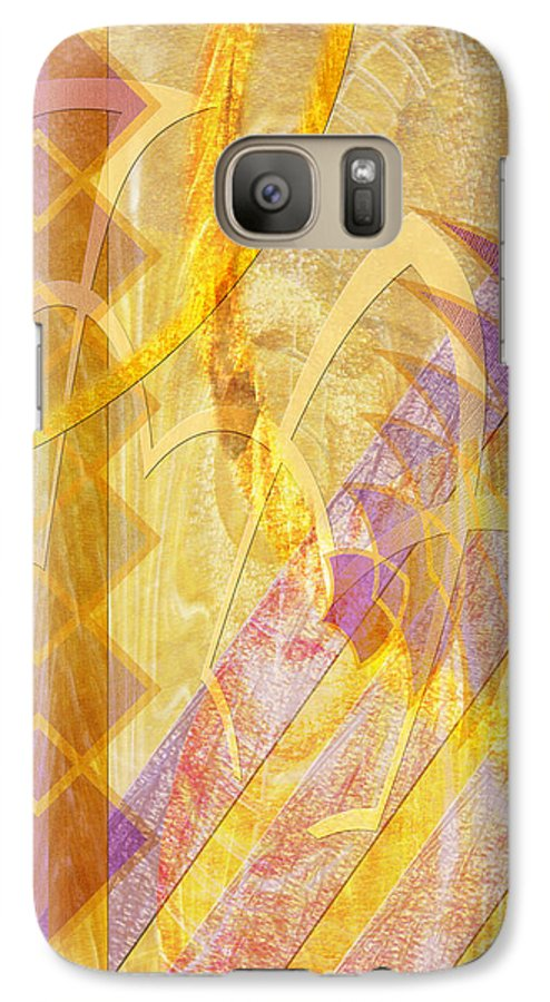 Gold Fusion Galaxy S7 Case featuring the digital art Gold Fusion by John Beck