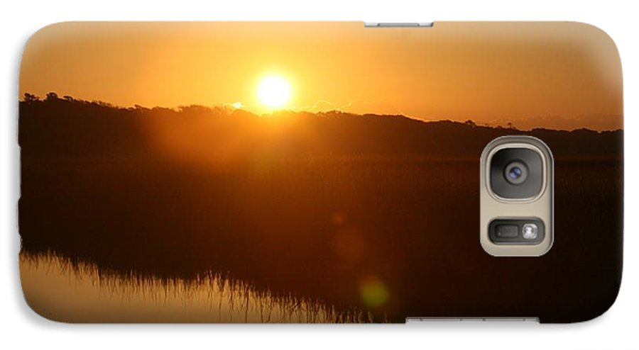 Glow Galaxy S7 Case featuring the photograph Gold Morning by Nadine Rippelmeyer