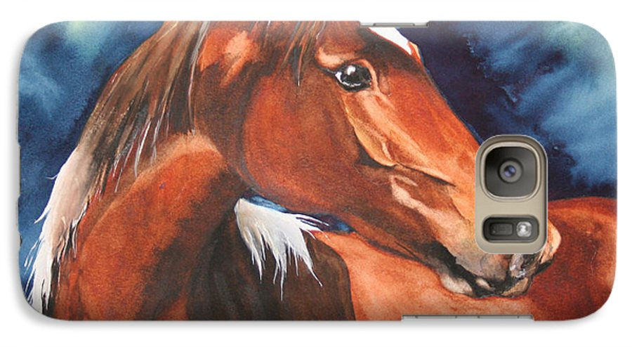 Horse Galaxy S7 Case featuring the painting Golden Boy by Jean Blackmer