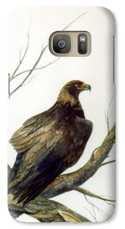 Eagle Galaxy S7 Case featuring the painting Golden Eagle by Ben Kiger