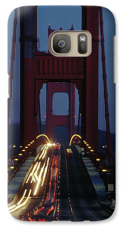 Evening Galaxy S7 Case featuring the photograph Golden Gate Bridge by Carl Purcell