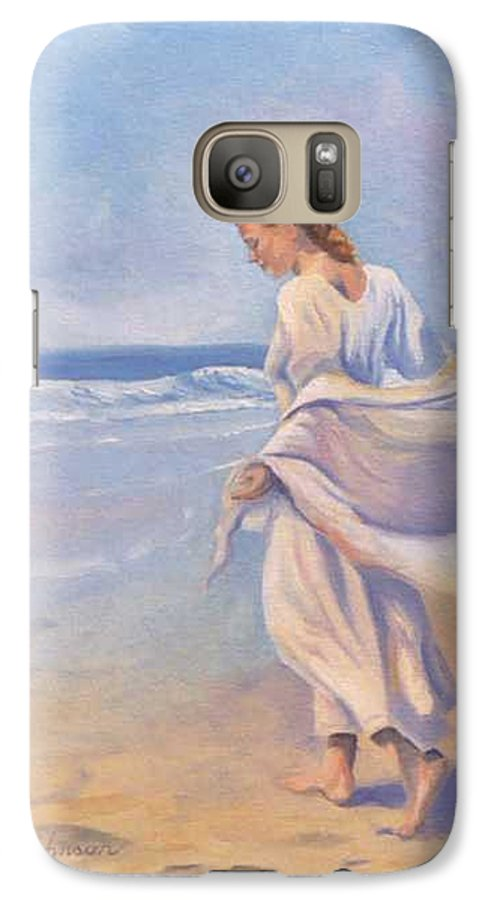 Beach Galaxy S7 Case featuring the painting Golden Girls by Jay Johnson