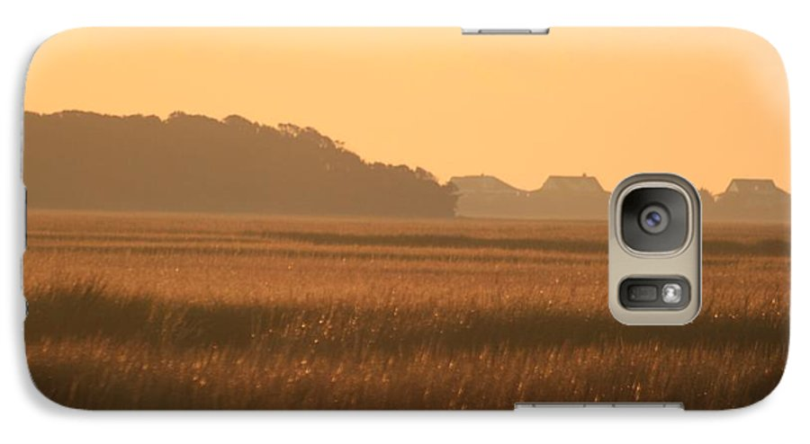 Marsh Galaxy S7 Case featuring the photograph Golden Marshes by Nadine Rippelmeyer