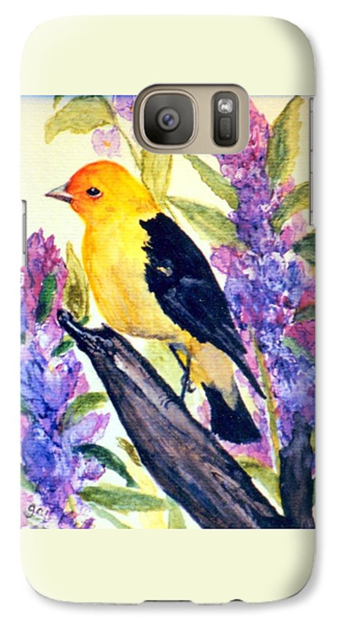 Birds Galaxy S7 Case featuring the painting Goldfinch by Gail Kirtz
