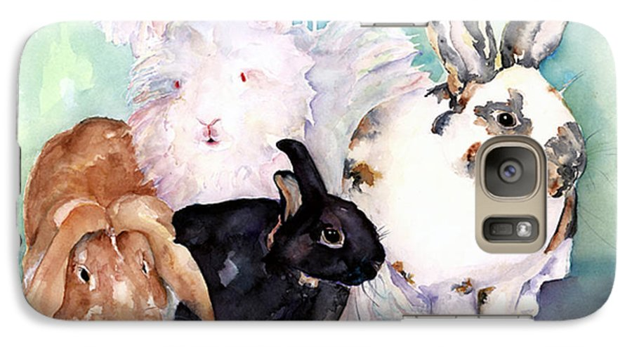 Animal Artwork Galaxy S7 Case featuring the painting Good Hare Day by Pat Saunders-White