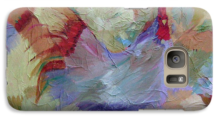 Chicken Paintings Galaxy S7 Case featuring the painting Good Morning by Ginger Concepcion