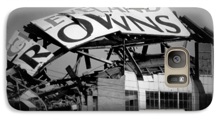 Cleveland Galaxy S7 Case featuring the photograph Goodbye Cleveland Stadium by Kenneth Krolikowski