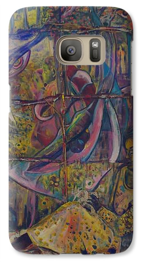 Mother Galaxy S7 Case featuring the painting Goodbye Sweet Dreams by Peggy Blood
