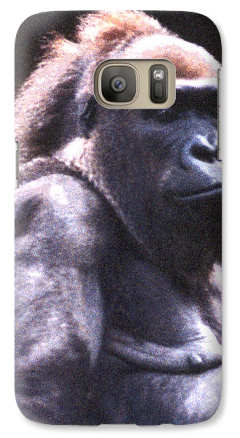Gorilla Galaxy S7 Case featuring the photograph Gorilla by Steve Karol