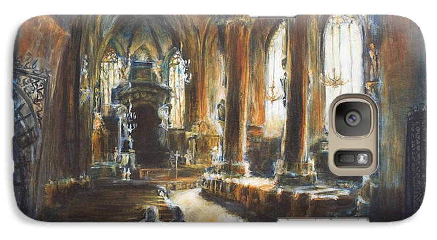 Church Galaxy S7 Case featuring the painting Gothic Church by Nik Helbig
