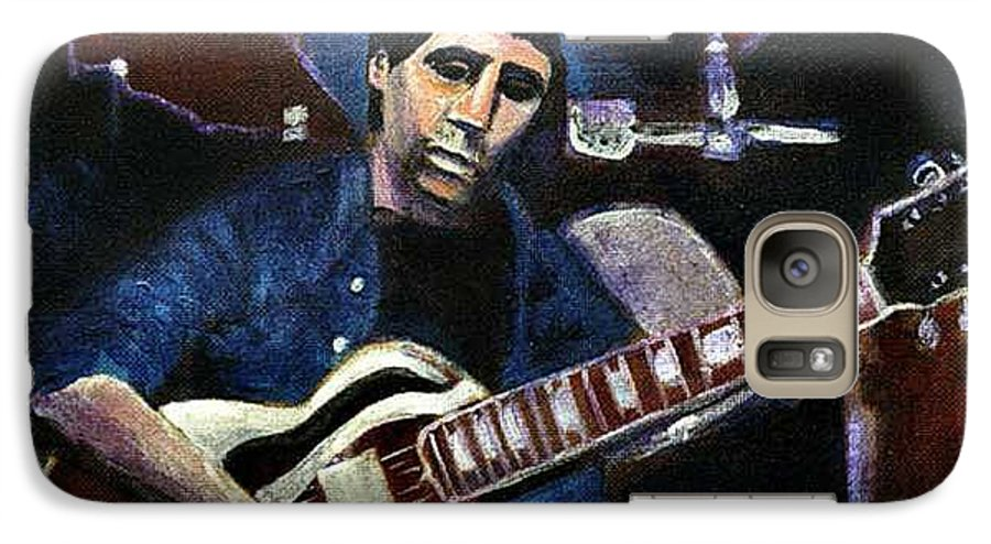 Shining Guitar Galaxy S7 Case featuring the painting Graceland Tribute To Paul Simon by Seth Weaver