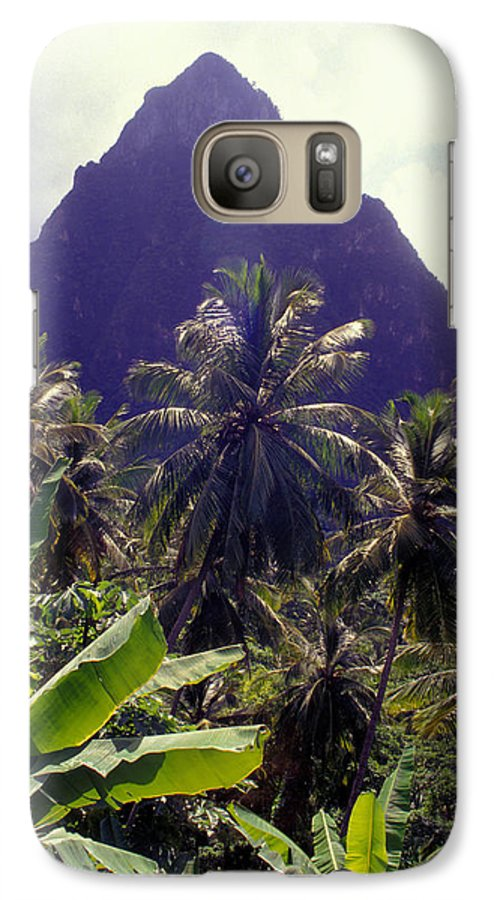 Caribbean Galaxy S7 Case featuring the photograph Grand Piton by Carl Purcell