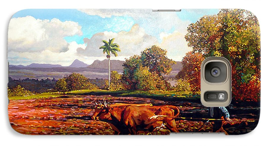Cuban Art Galaxy S7 Case featuring the painting Grandfather Farm by Jose Manuel Abraham