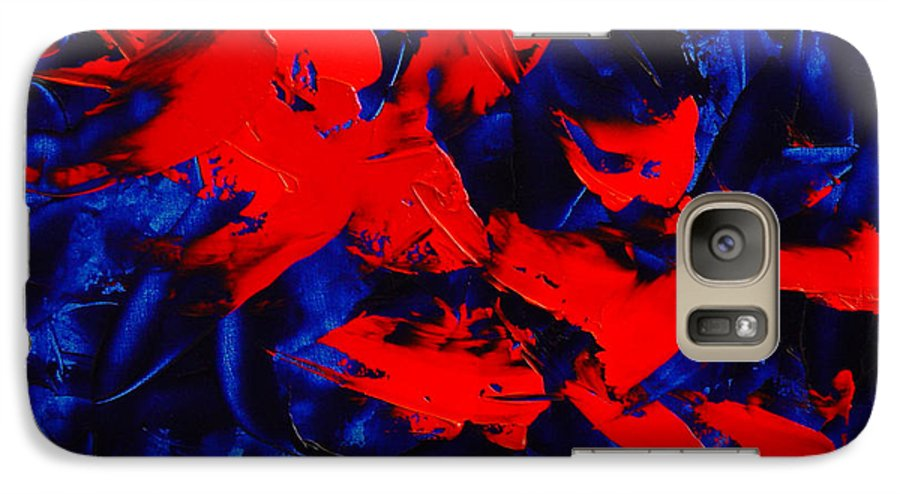 Abstract Galaxy S7 Case featuring the painting Grandma II by Dean Triolo