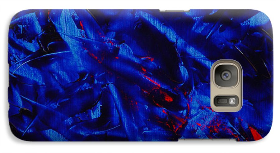 Abstract Galaxy S7 Case featuring the painting Grandma IIi by Dean Triolo