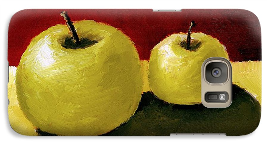 Apple Galaxy S7 Case featuring the painting Granny Smith Apples by Michelle Calkins