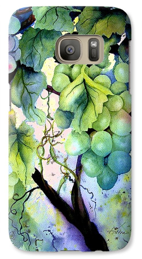 Grapes Galaxy S7 Case featuring the painting Grapes II by Karen Stark