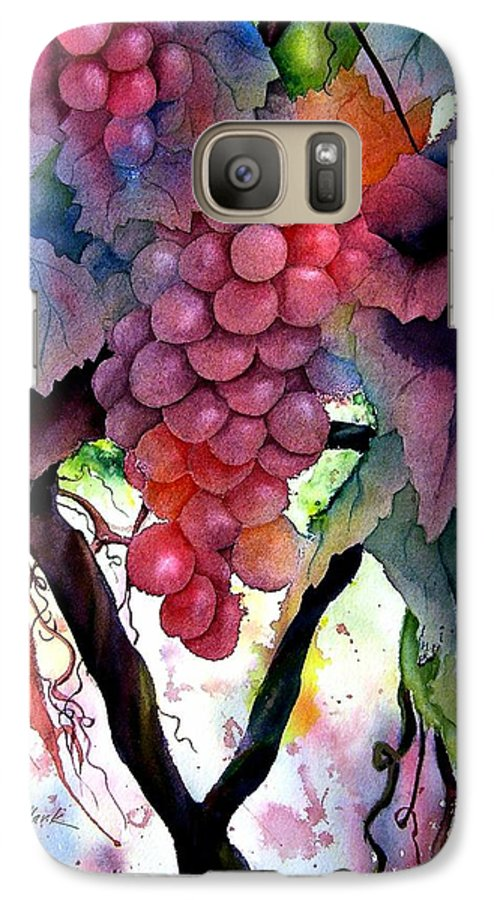 Grape Galaxy S7 Case featuring the painting Grapes IIi by Karen Stark