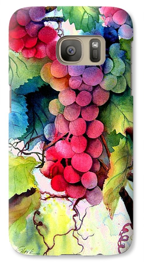 Grapes Galaxy S7 Case featuring the painting Grapes by Karen Stark