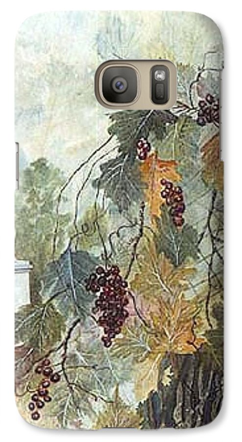 Fruit Galaxy S7 Case featuring the painting Grapevine Topiary by Ben Kiger