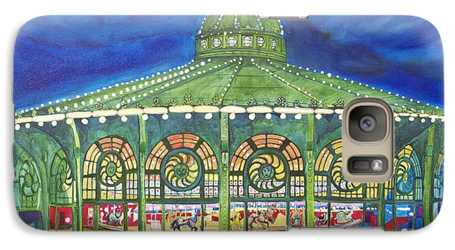 Night Paintings Of Asbury Park Galaxy S7 Case featuring the painting Grasping The Memories by Patricia Arroyo