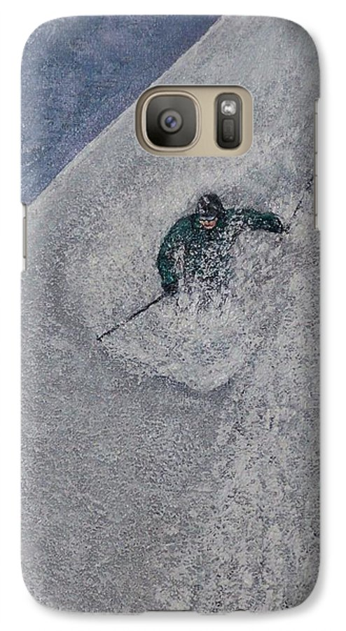 Ski Galaxy S7 Case featuring the painting Gravity by Michael Cuozzo