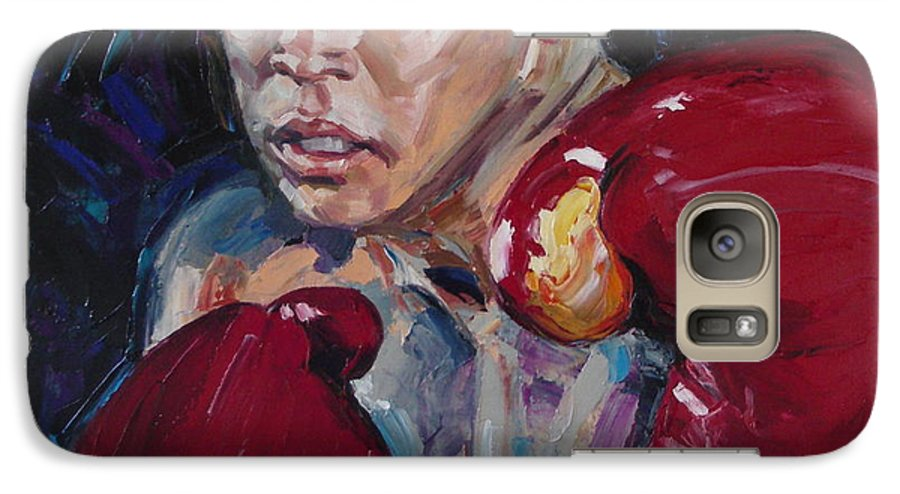 Figurative Galaxy S7 Case featuring the painting Great Ali by Sergey Ignatenko