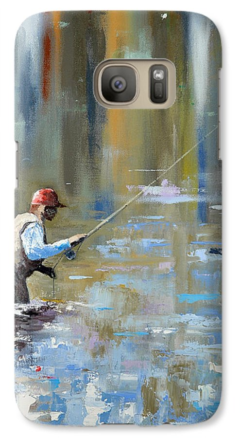 Flyfishing Galaxy S7 Case featuring the painting Great Expectations by Glenn Secrest