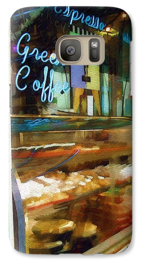 Greek Galaxy S7 Case featuring the photograph Greek Coffee by Sandy MacGowan
