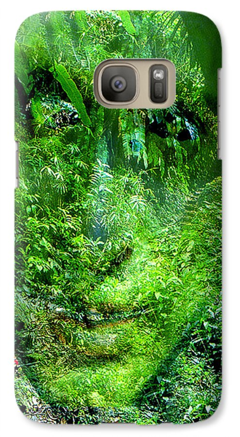 Nature Galaxy S7 Case featuring the digital art Green Man by Seth Weaver