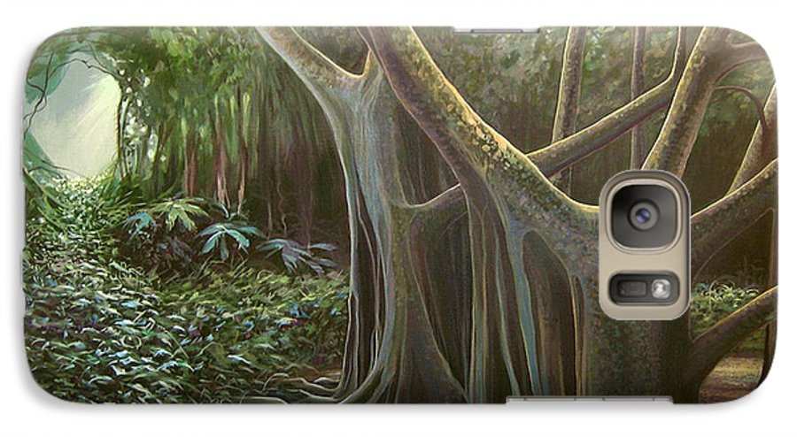 Barbados Galaxy S7 Case featuring the painting Green Mansions by Hunter Jay