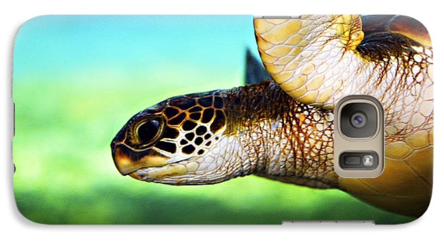Green Galaxy S7 Case featuring the photograph Green Sea Turtle by Marilyn Hunt