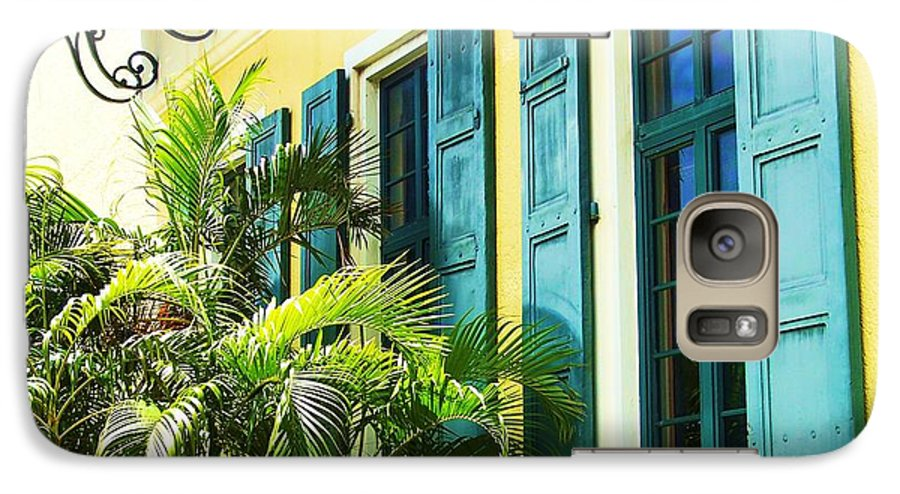 Architecture Galaxy S7 Case featuring the photograph Green Shutters by Debbi Granruth