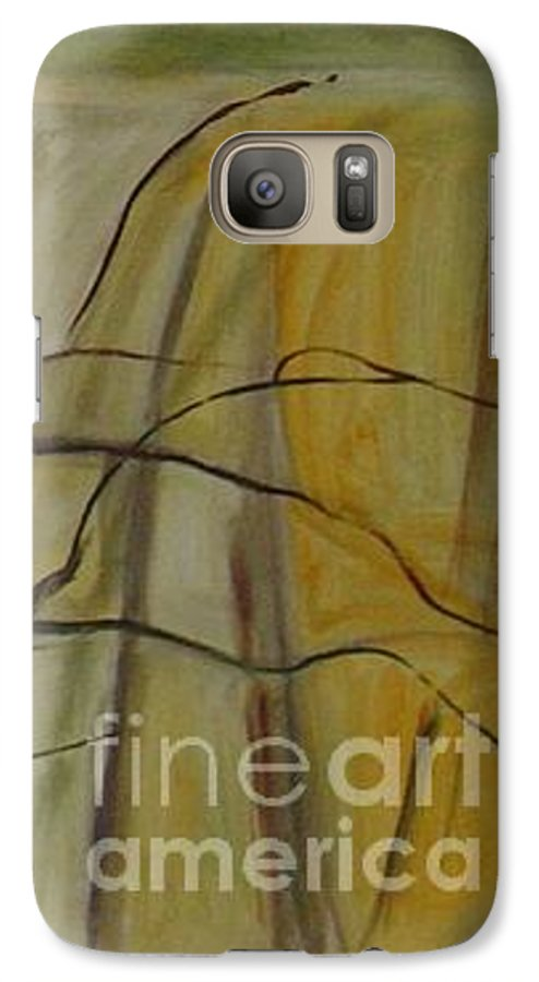 Spring Young Trees Saplings Trees Galaxy S7 Case featuring the painting Green Sonnet by Leila Atkinson