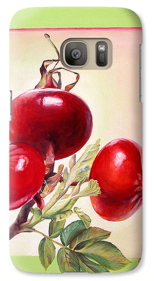 Still Life Galaxy S7 Case featuring the painting Grenadine by Muriel Dolemieux