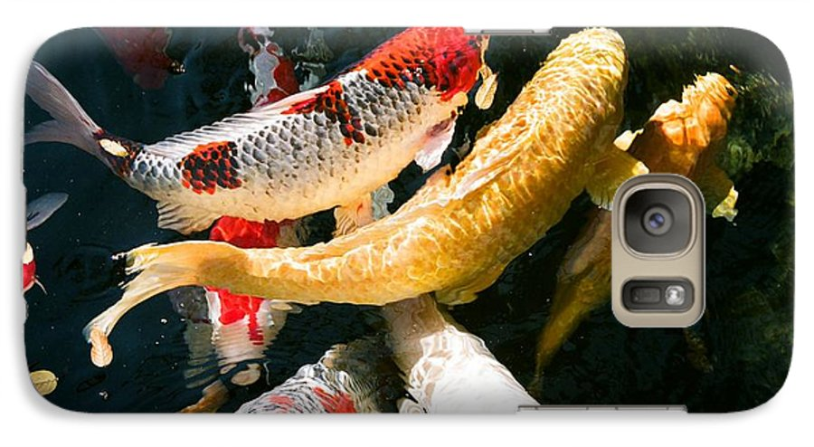 Fish Galaxy S7 Case featuring the photograph Group Of Koi Fish by Dean Triolo