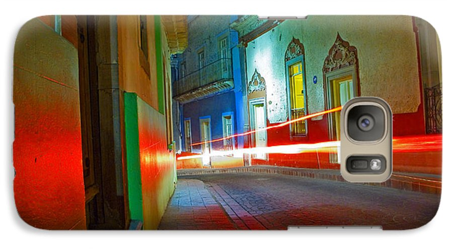 Shadow Galaxy S7 Case featuring the photograph Guanajuato Night by Skip Hunt