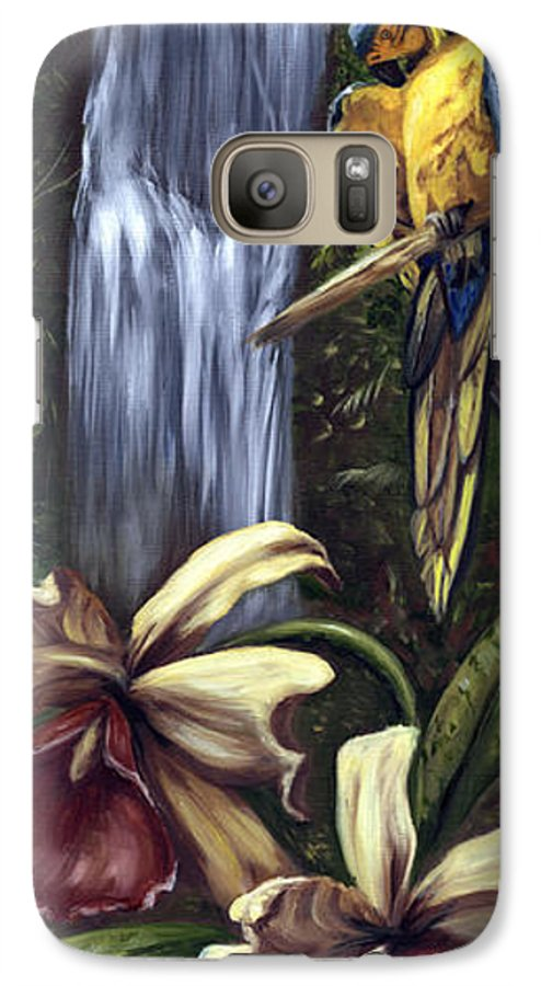 Birds Galaxy S7 Case featuring the painting Guardian Of The Falls by Anne Kushnick