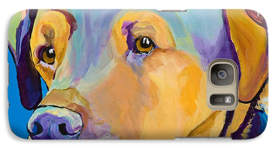 Dog Portrait Galaxy S7 Case featuring the painting Gunner by Pat Saunders-White