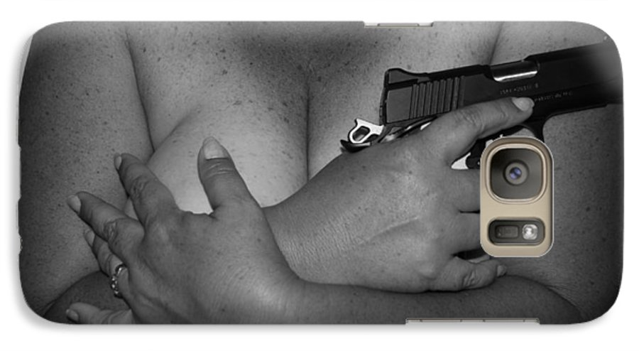 Black And White Galaxy S7 Case featuring the photograph Guns And Ammo by Rob Hans