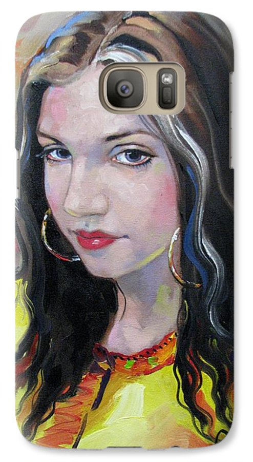 Gypsy Galaxy S7 Case featuring the painting Gypsy Girl by Jerrold Carton