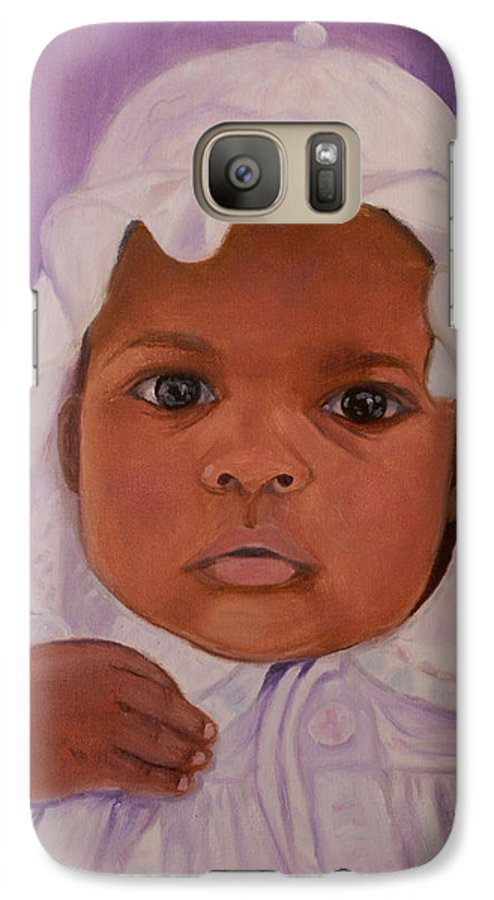 Haiti Galaxy S7 Case featuring the painting Haitian Baby Orphan by Quwatha Valentine