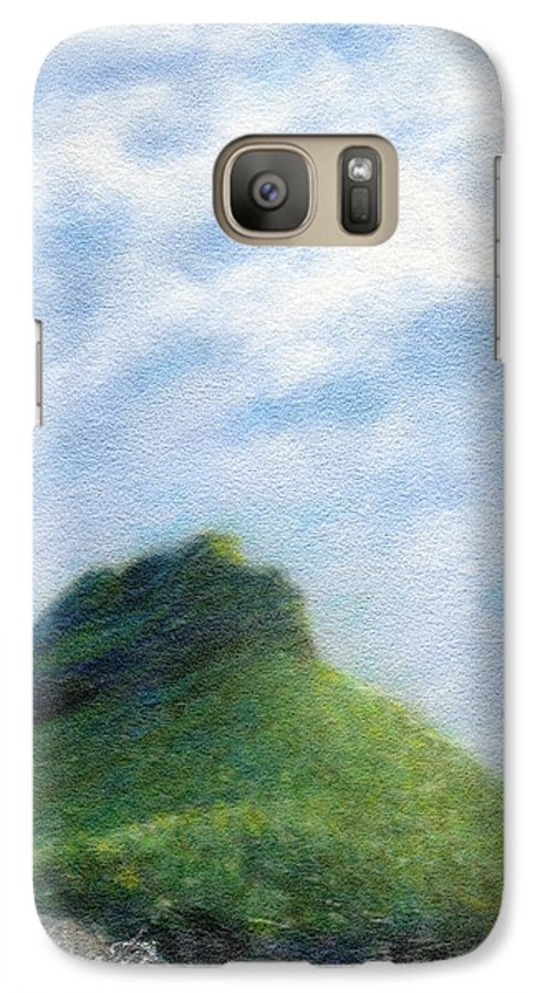 Rainbow Colors Pastel Galaxy S7 Case featuring the painting Hanakapia Beach View by Kenneth Grzesik