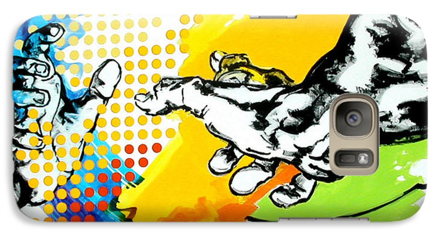 Classic Galaxy S7 Case featuring the painting Hands by Jean Pierre Rousselet