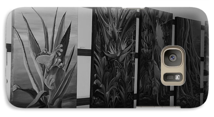 Black And White Galaxy S7 Case featuring the photograph Hanging Art by Rob Hans